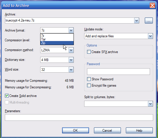erstellen hyperlink für zip datei