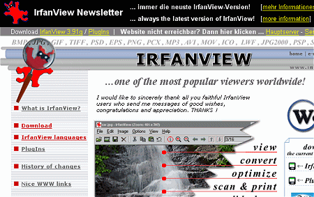 IrfanView Website